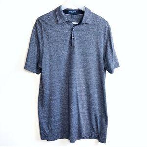 Peter Millar Polo Linen Cotton Dress Shirt Sz Med